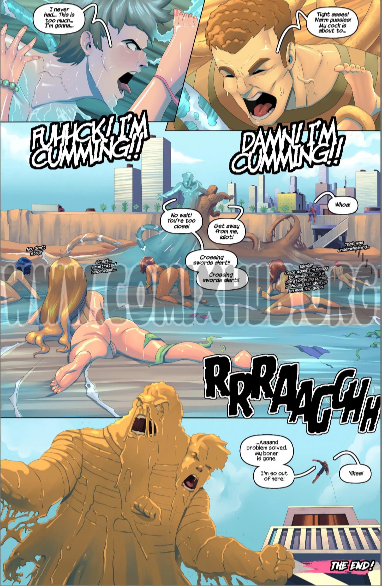 Sandy vs Watery porn comics Oral sex, Anal Sex, Bikini, Blowjob, Deepthroat, Double Penetration, Straight, Tentacles