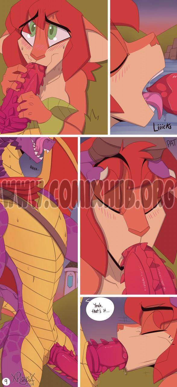 Spyro and Elora porn comics Oral sex, Blowjob, Cum Shots, Furry, Straight, X-Ray