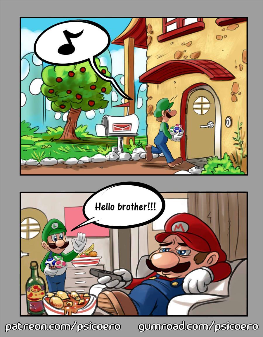 Super Mario - 50 Shades of Bros porn comics Oral sex, incest, Rule 63