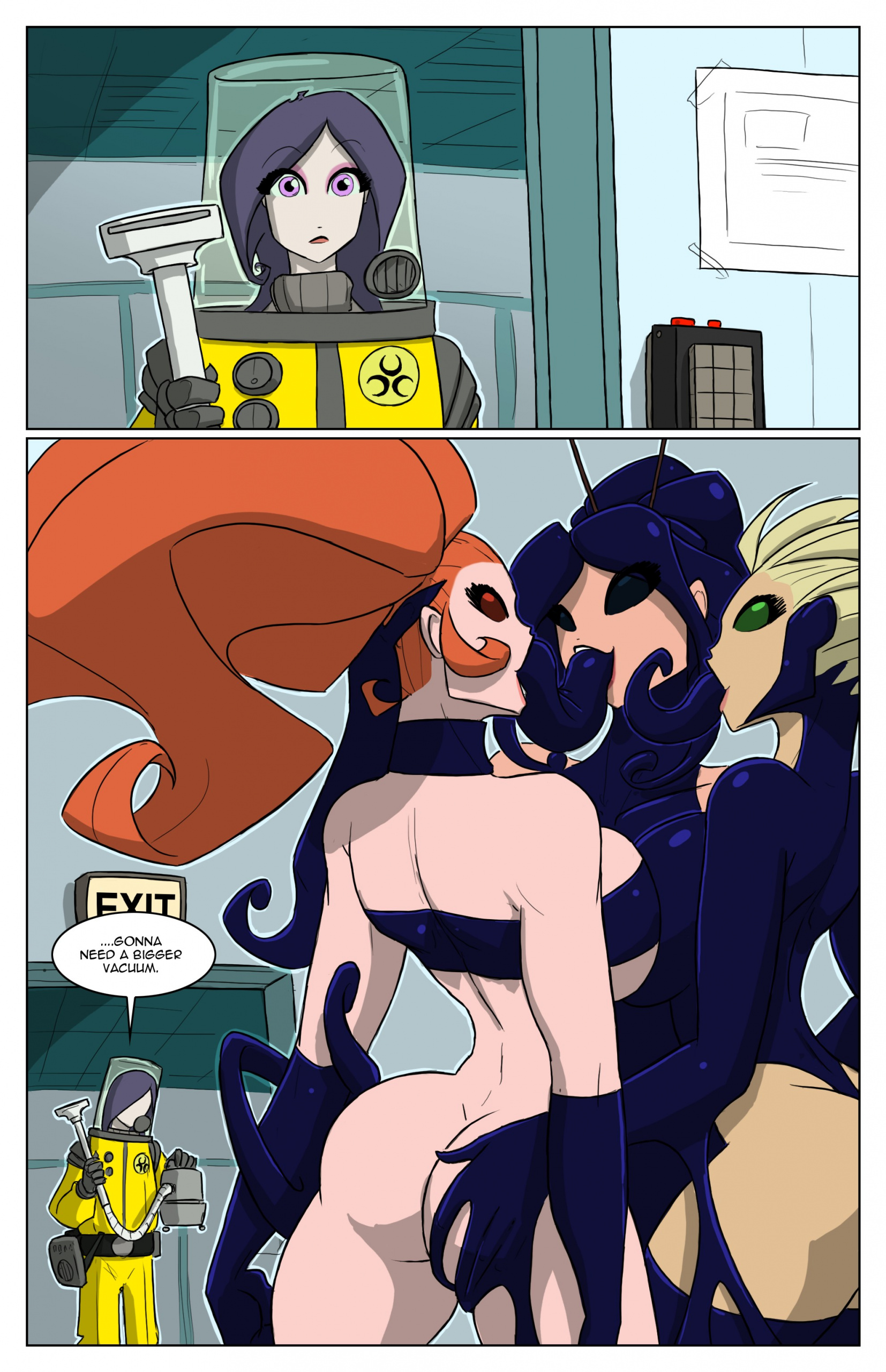 The Goo porn comics Anal Sex, Blowjob, Double Penetration, Femdom, Group Sex, Latex, Lesbians, Oral sex, Sci-Fi, Stockings, Straight, Tentacles