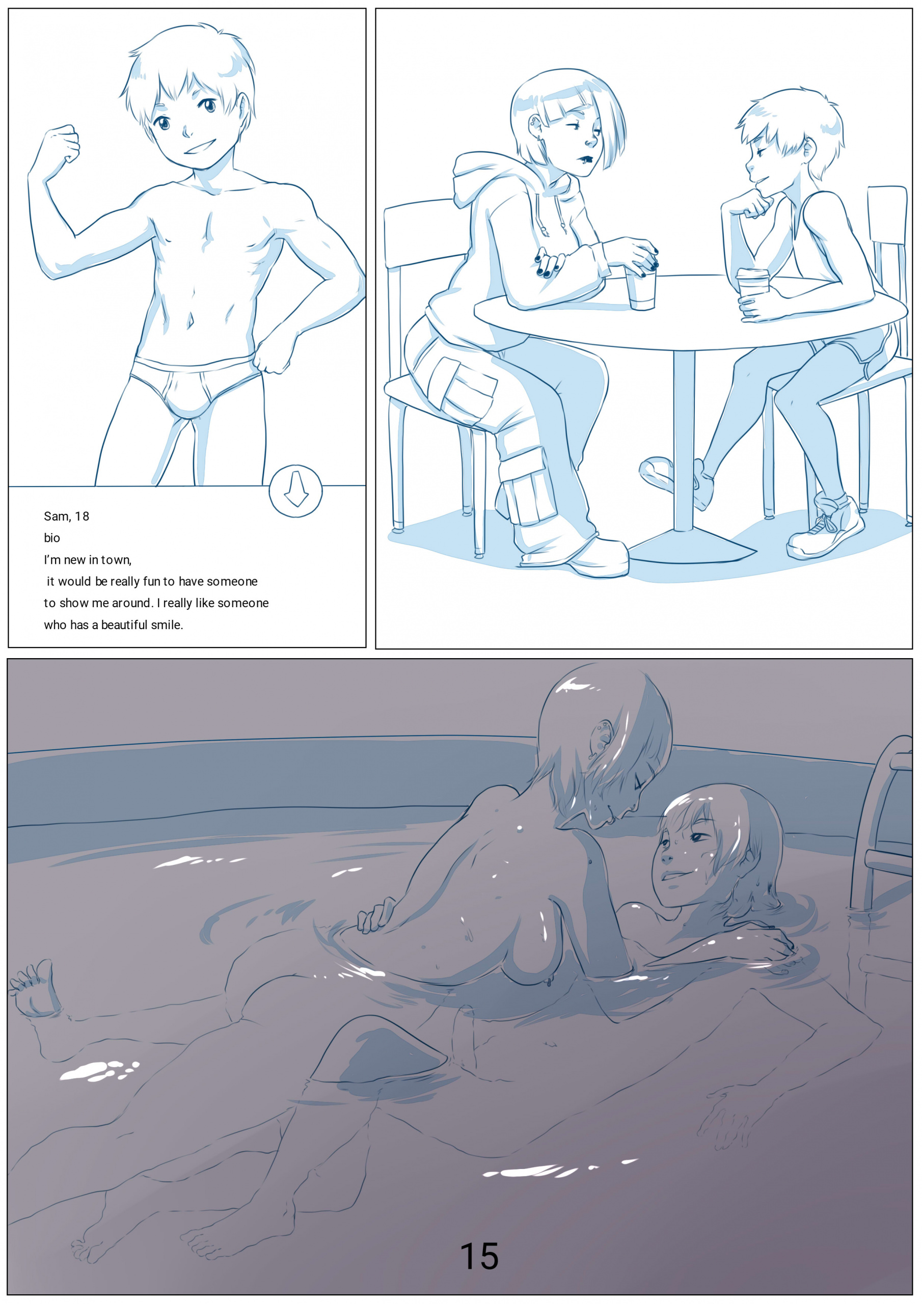 Too Much of a Second Chance porn comics Oral sex, Blowjob, Sci-Fi, Straight, Straight Shota