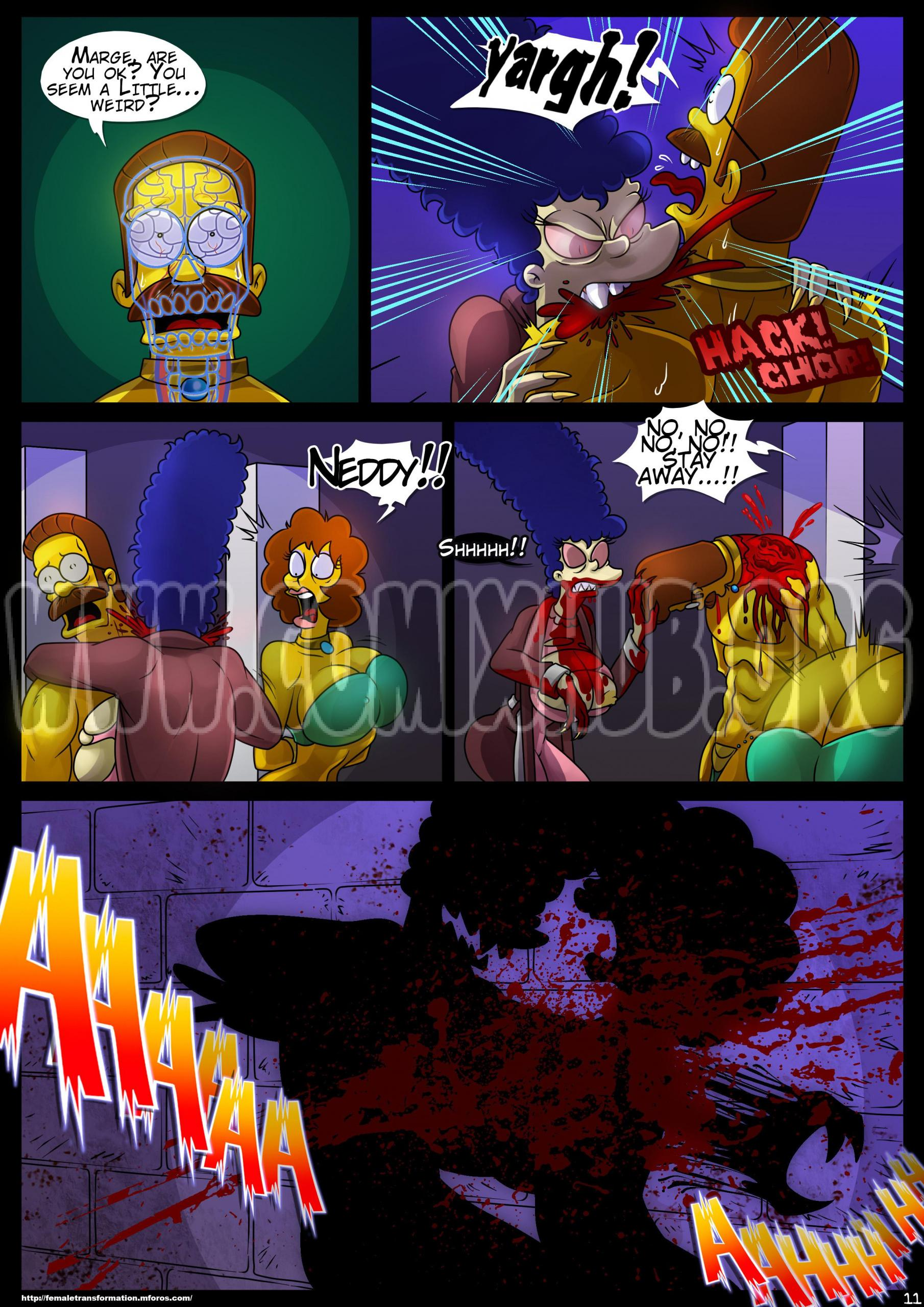 Treehouse of Horror 4 Straight, Anal Sex, Big Tits, Creampie, Transformation