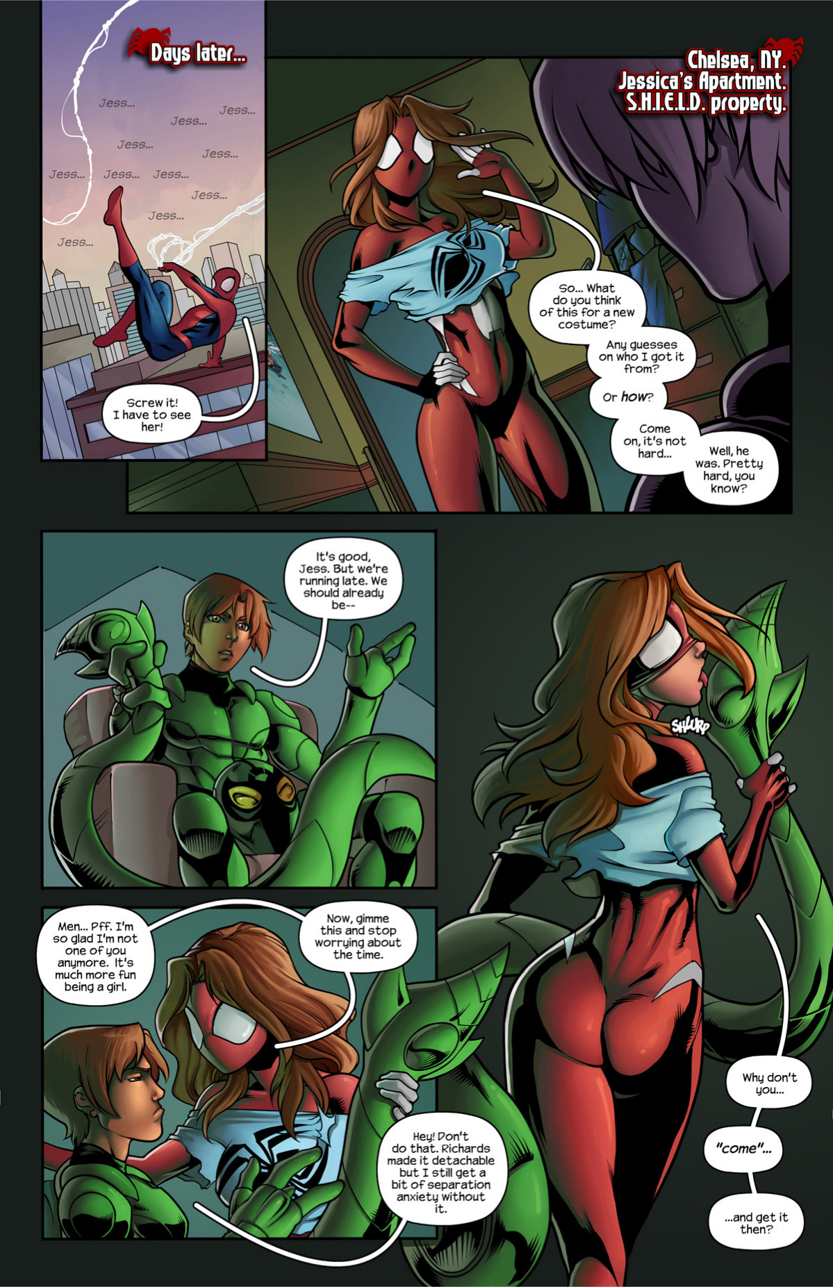 Ultimate Spider-Man XXX 11 - Spidercest porn comics Oral sex, Anal Sex, Double Penetration