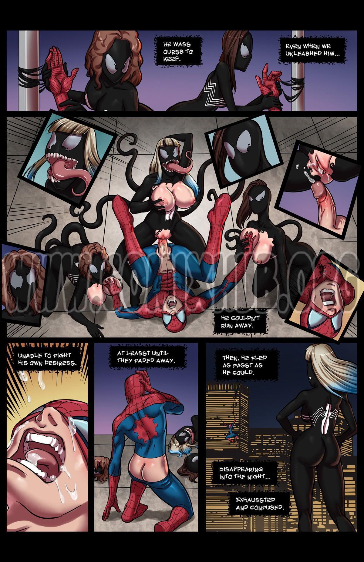 Venom Stalks Spidey porn comics Oral sex, Blowjob, Creampie, Cum Swallow, cunnilingus, Group Sex, Sex Toys, Straight