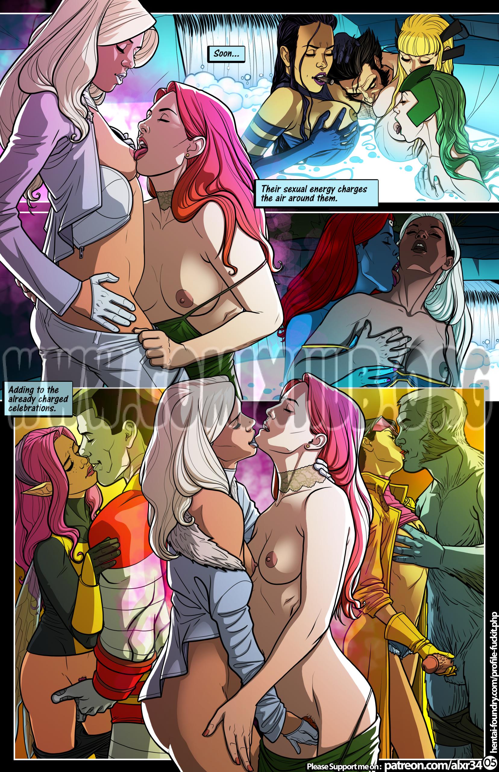 X-men: Bacchanalia Oral sex, Anal Sex, Big Tits, Bikini, cunnilingus, Futanari, Group Sex, Lesbians, Masturbation, Sex Toys, Straight