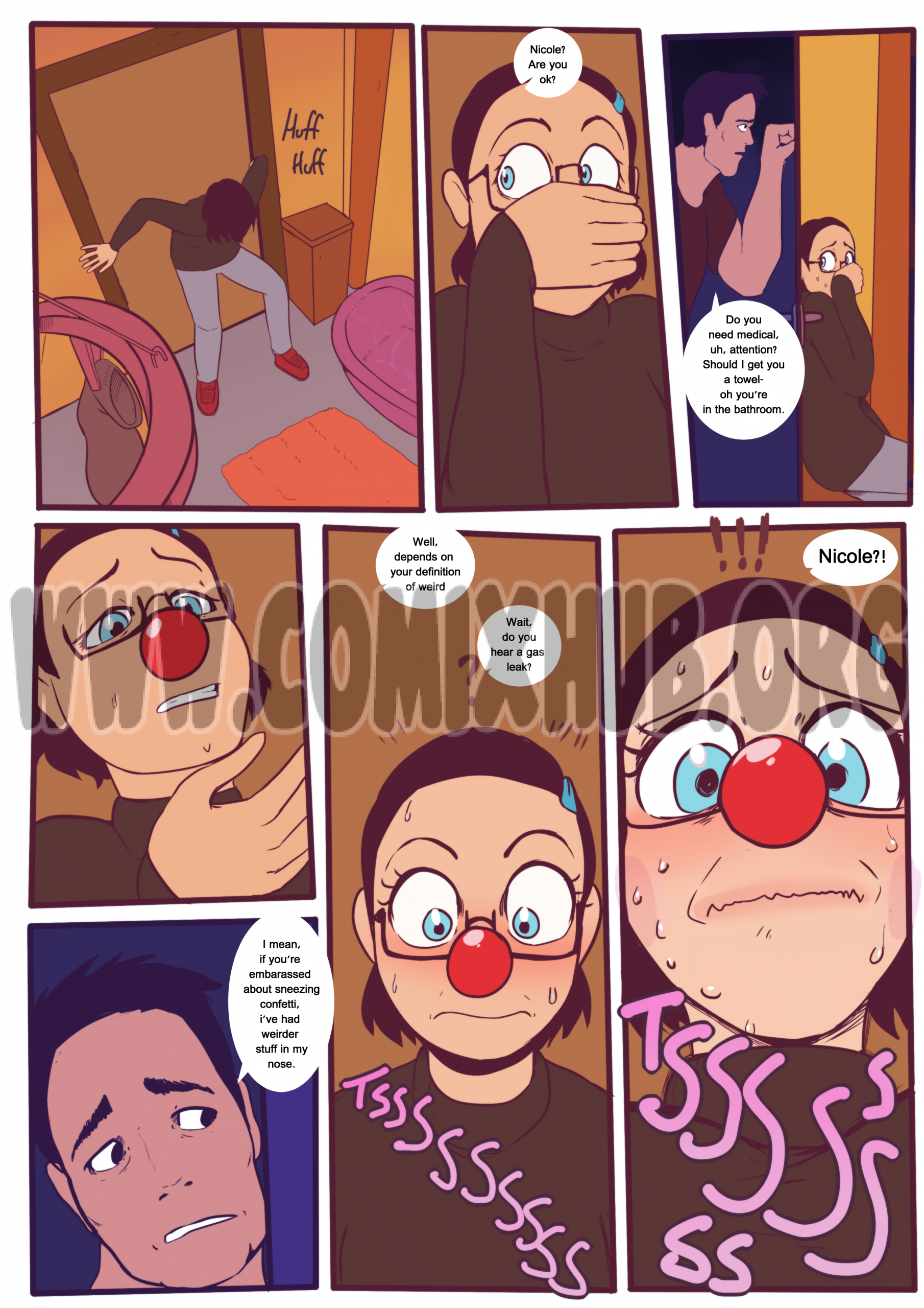 A perfectly normal comic where nothing weird happens Oral sex, Big Tits, cunnilingus, Masturbation, Straight, Transformation
