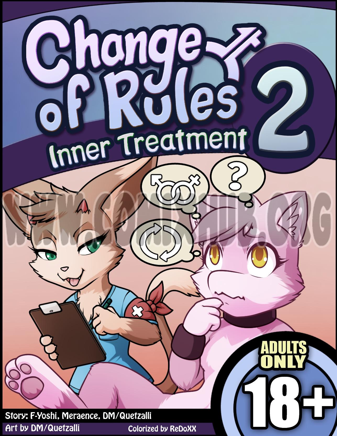 Change of Rules 2: Inner Treatment Straight, Anal Sex, Double Penetration, fingering, Furry, Masturbation, Sex Toys, X-Ray