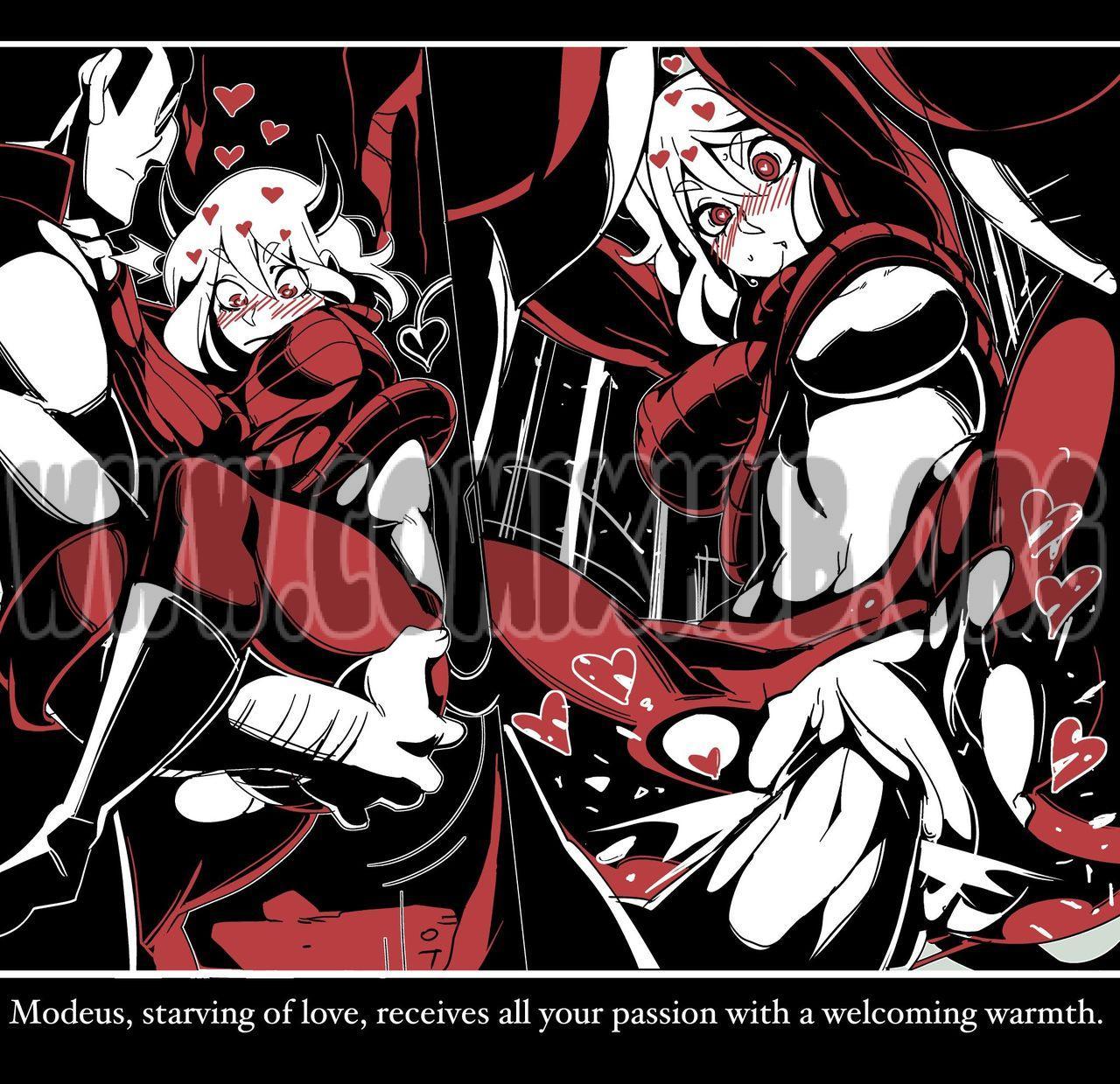 Helltaker Fanart Madness Straight, BDSM, Fantasy, Femdom, Glasses, Monster Girls