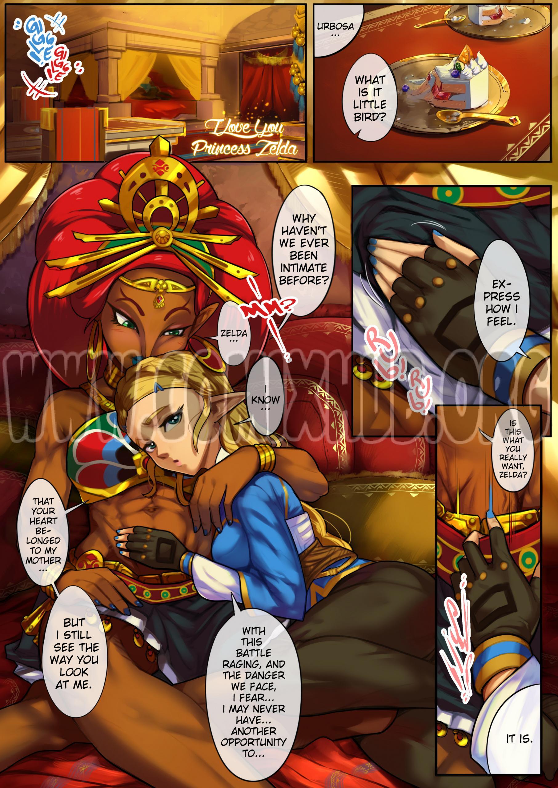 I Love You Princess Zelda Oral sex, Blowjob, Creampie, Deepthroat, Elf, Fantasy, Futanari, Straight