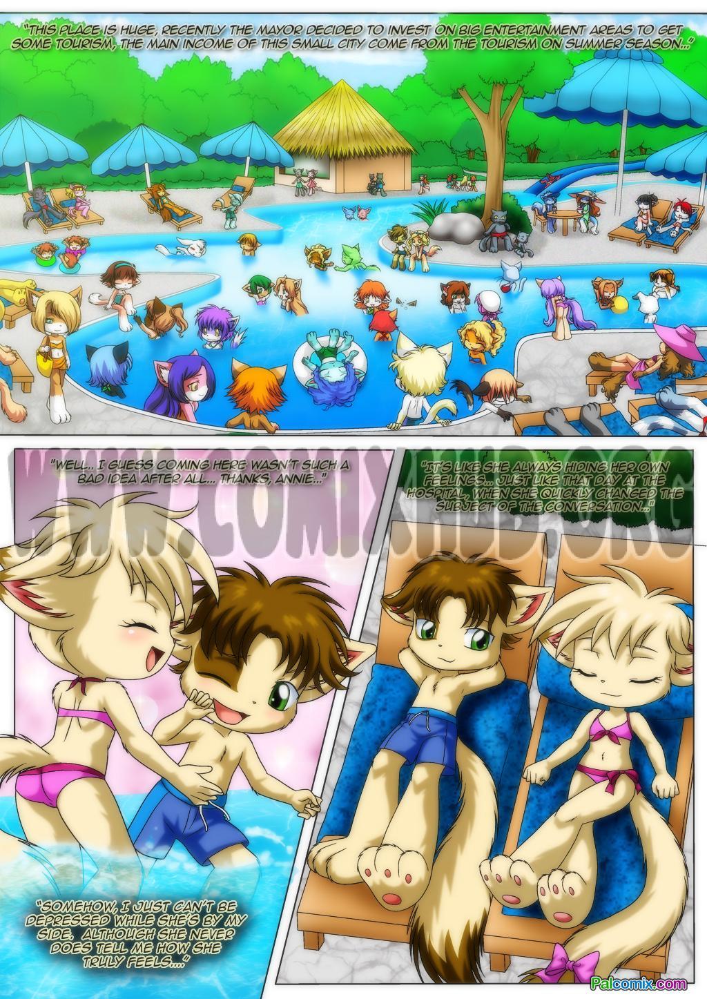 Porn comics Little Tails 4: Cherry Blossom Girl Furry, Bikini, Lesbians, Stockings