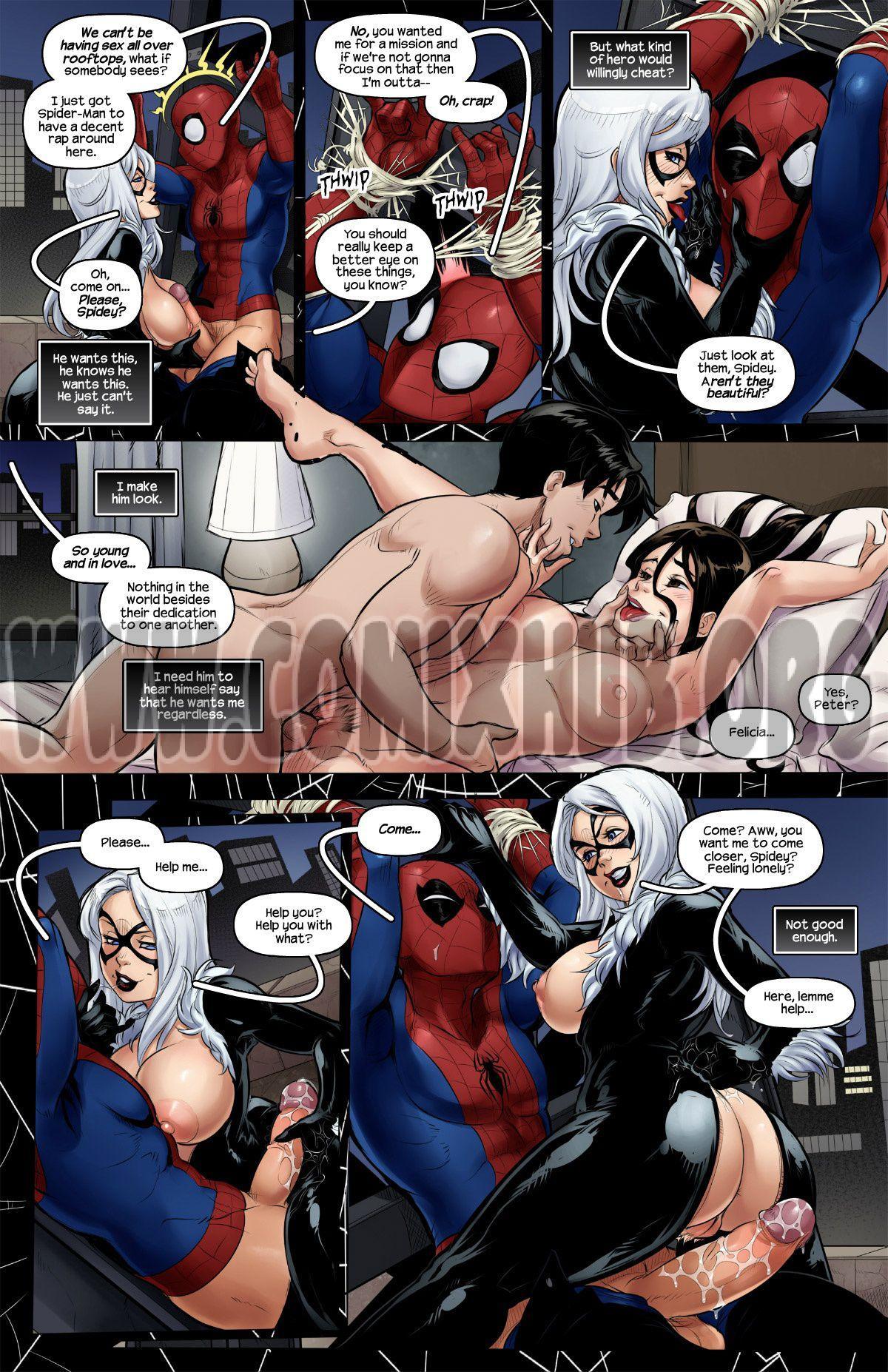 The Nuptials of Spider-Man & Black Cat Straight, Big Tits, Stockings