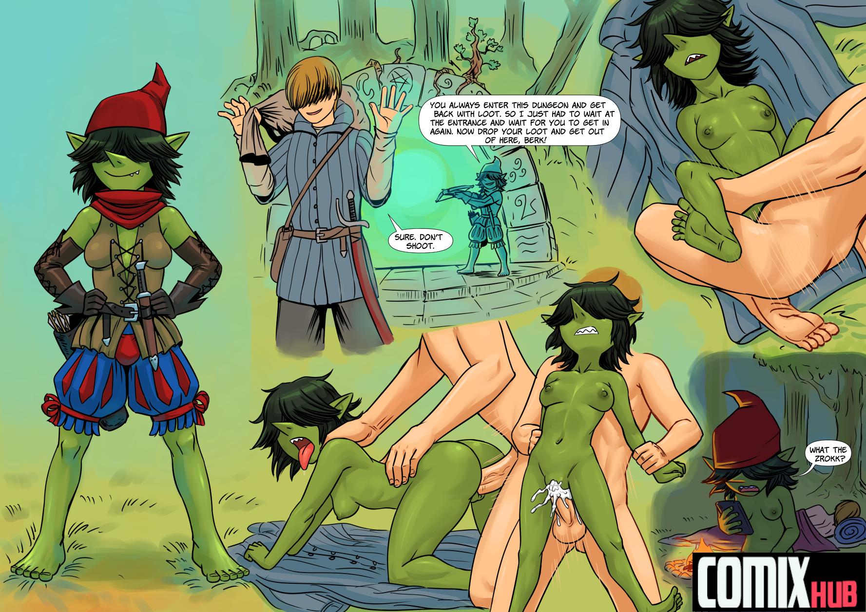 Porn comics Goblin Queen Creampie, Fantasy, Femdom, Monster Girls, Straight, Submission