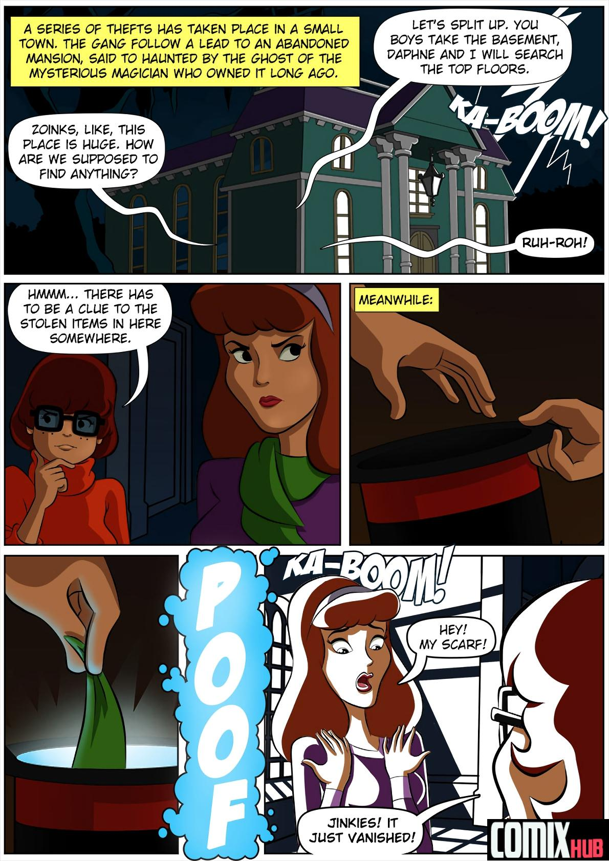 Porn comics, Scooby Doo and the Haunted Hat Sex and Magic