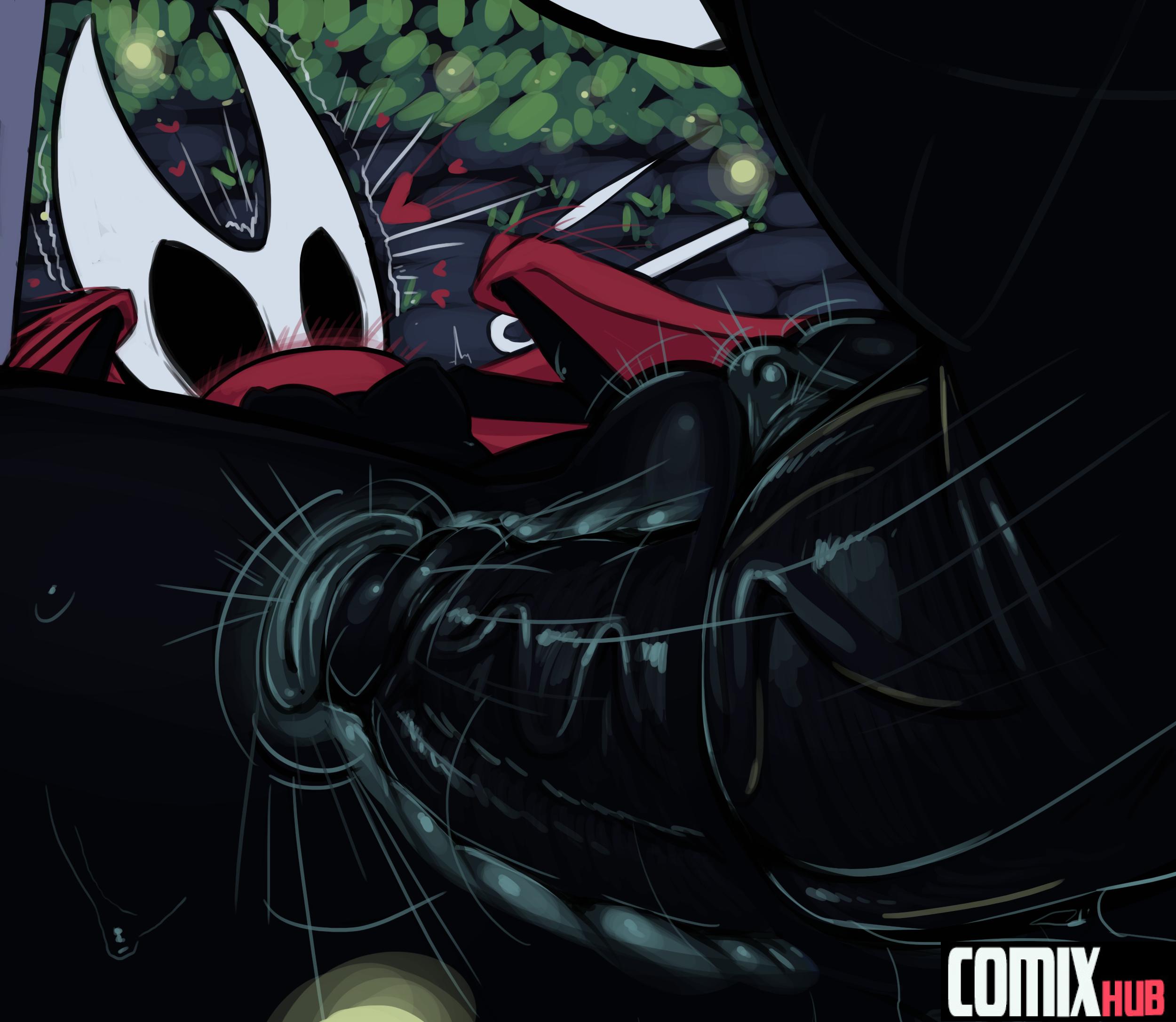 Porn comics, Hollow Knight - The Hero Straight, Creampie, Monster Girls, X-Ray