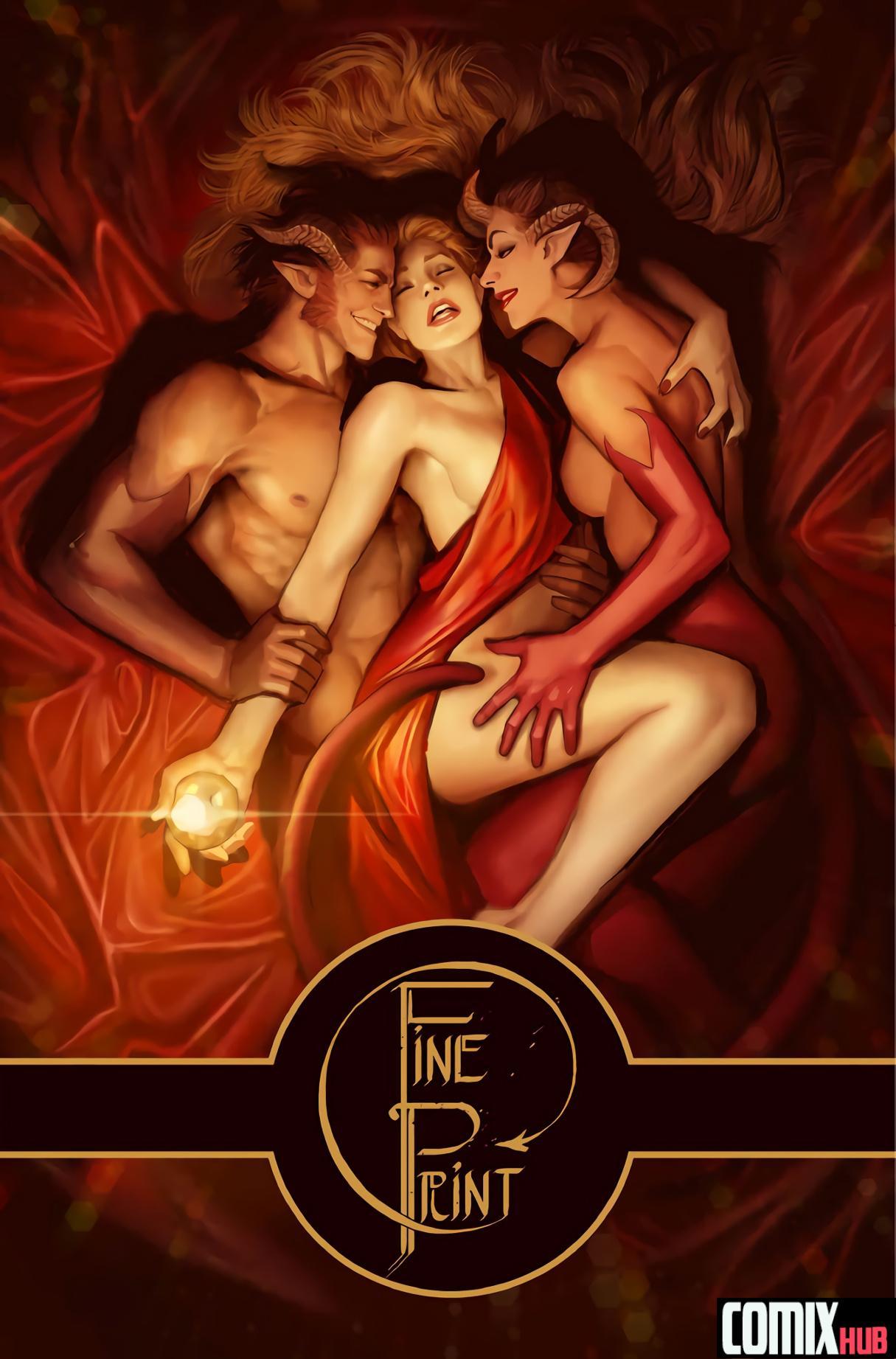 Porn comics, Fine Print Oral sex, Cosplay, cunnilingus, Fantasy, fingering, Gay, Glasses, Group Sex, Lesbians, Masturbation, Monster Girls, Sex and Magic, Threesome