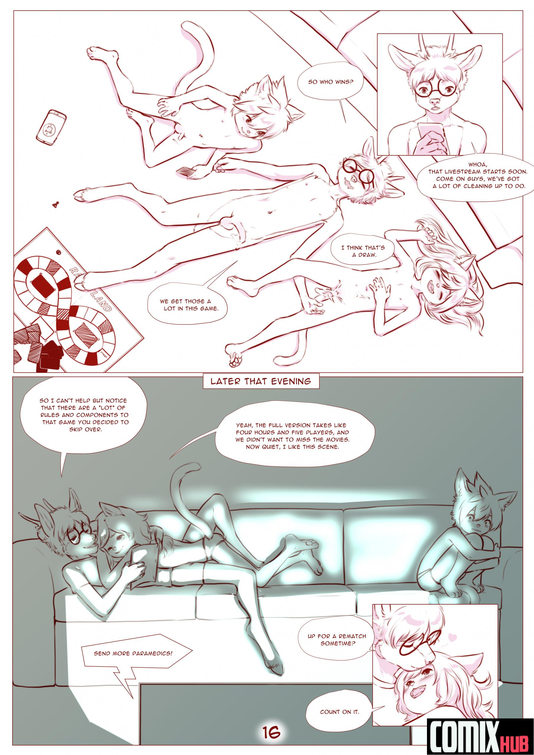Porn comics, Fun and Games Straight, Furry, Masturbation, Mini Male, Nymph