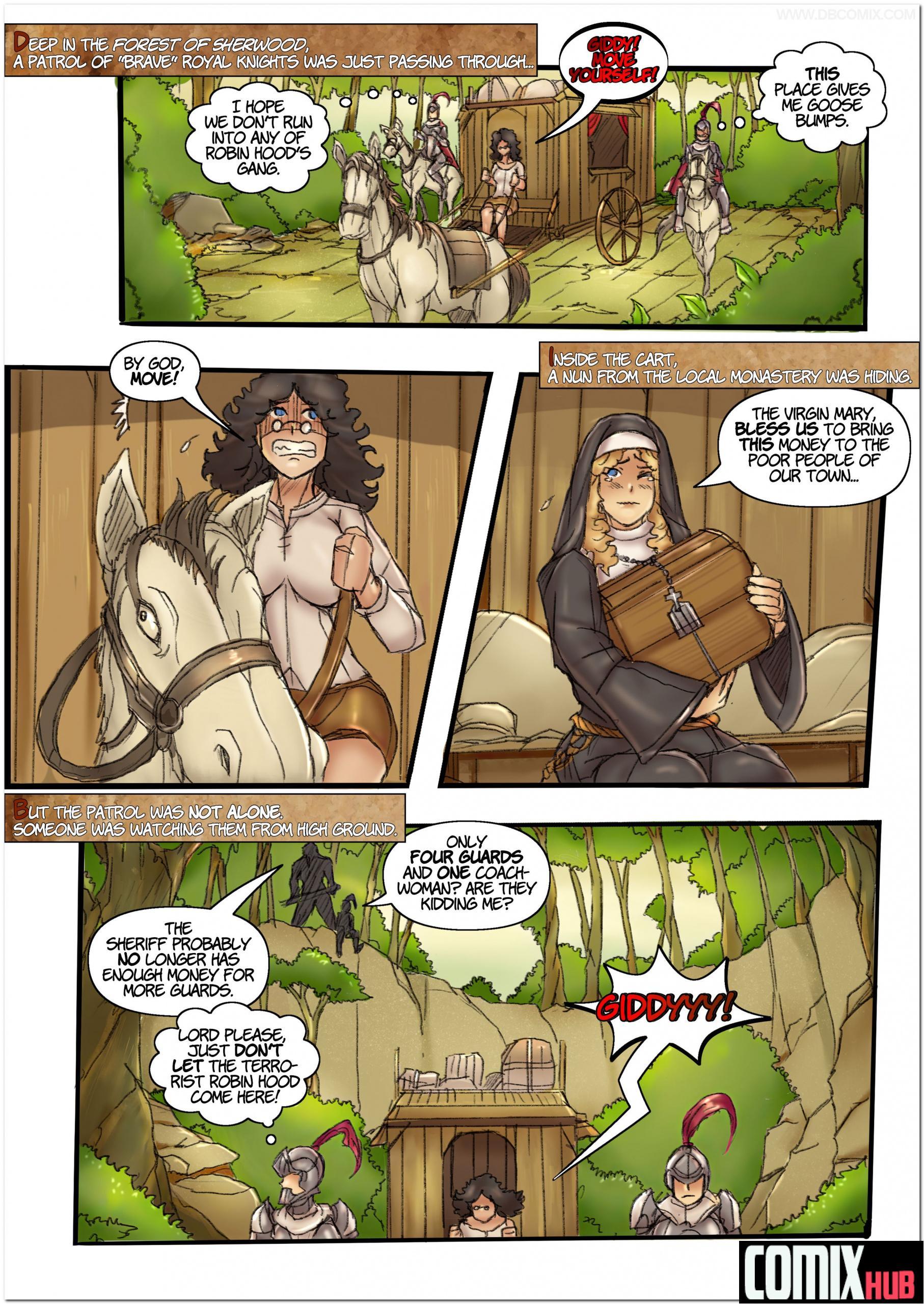 Porn comics, Robin Hood the Queen of Thieves 1 Oral sex, BDSM, Big Tits, Bondage, cunnilingus, Latex, Lesbians, Stockings