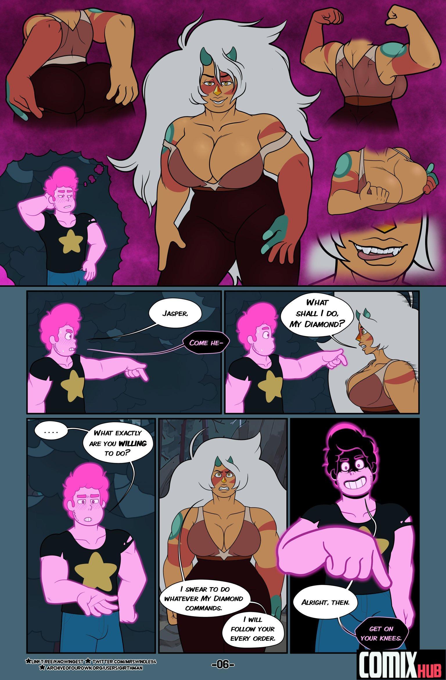 Porn comics, Steven Universe Fervor 1 Oral sex, Big Tits, Blowjob, Creampie, Cum Swallow, Domination, Fantasy, Monster Girls, Submission