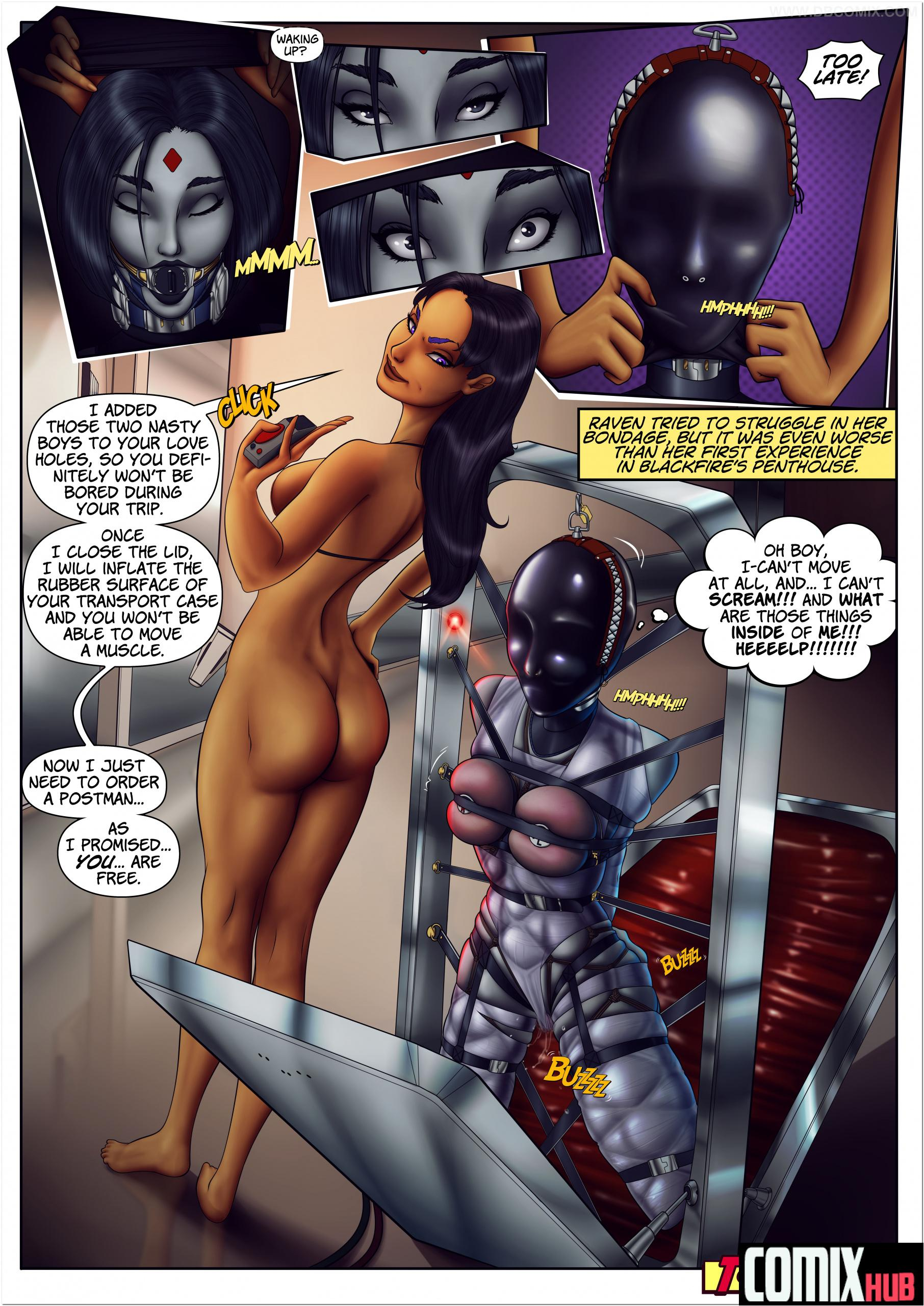 Porn comics, Teen Titans Raven Straight, BDSM, Big Tits, Bondage, Femdom, Latex, Lesbians, Sex Toys, Stockings, X-Ray
