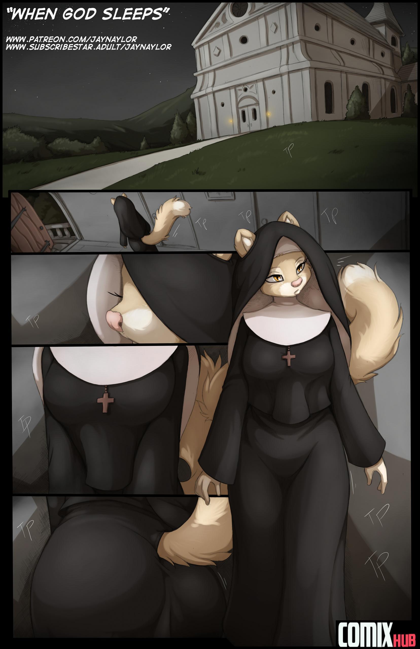 Porn comics, When God Sleeps Oral sex, Furry